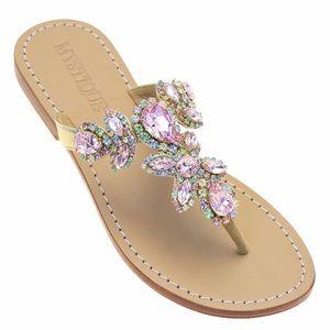 new Mystique ꕥ Boca Raton Crystal Wedge Sandals ꕥ